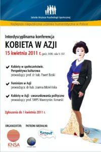 """Interdyscyplinarna Konferencja """"Kobieta wAzji"""""""