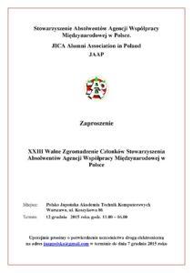XXXIII Walne Zebranie Członków Stowarzyszenia JAAP